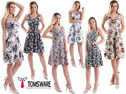 sleeveless dress tom s ware womens casual fit and flare floral sleeveless dress at