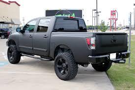 nissan truck titan nissan titan matte black vinyl wrap zilla wraps