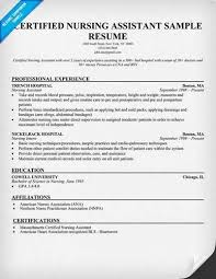Nursing Assistant Resume Samples by Resume Templates For Nursing Assistant