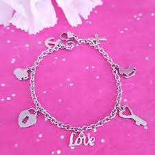 stainless steel charm bracelet chain images Stainless steel charm bracelet pinkbutterflybella jpg