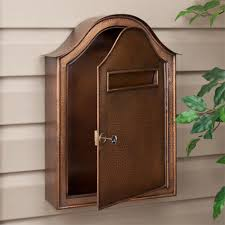 Diy Wall Mount Mailbox Outdoor Victorian Wall Mount Mailbox Locking Wall Mount Mailbox