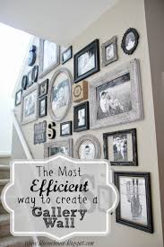 the most efficient way to create a gallery wall gallery wall