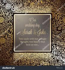 Single Invitation Cards Invitation Card Background Antique Luxury Gold Stock Vector