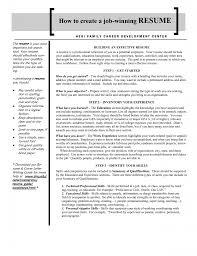 Sample Effective Resume by Download Winning Resume Haadyaooverbayresort Com
