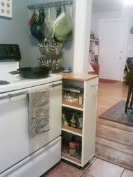 filling gaps between cabinets happiness takes effort a rolling spice cabinet