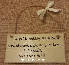 wedding anniversary plaques happy 1st wedding anniversary personalised heart husband 1st