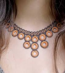 crochet jewelry necklace images Ethical handmade crochet necklace apricot fair trade high 5 jpg