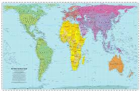 Map Projection Peters Projection World Map My Blog