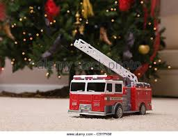 Fire Trucks Decorated For Christmas Red Truck Christmas Stock Photos U0026 Red Truck Christmas Stock
