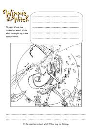 handwriting worksheets winnie the witch by knit teaching