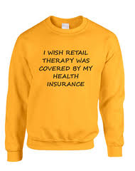 men u0027s t shirt retail therapy covered insurance humor funny tee