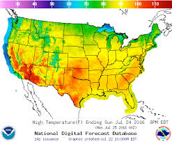 national weather forecast map high temperature map from national weather service for sunday