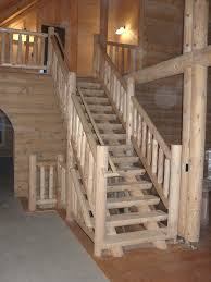 custom wooden log rustic staircases photo gallery