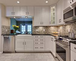 kitchen classy white cabinets black countertops what color walls