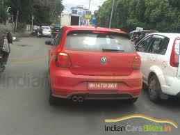 modified volkswagen polo 192ps volkswagen polo gti spied in india ready for launch