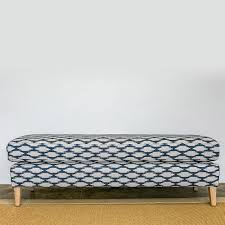 ottoman with patterned fabric retro ottoman patterned fabric u3 shop