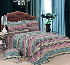 Quilt Comforter Set Hnnsi Bohemian Quilt Comforter Sets Queen Size 3 Piece Striped