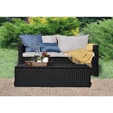Outdoor Storage Coffee Table Serta Laguna Outdoor Storage Sofa And Coffee Table Free Shipping