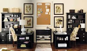 appealing black painted office decor ideas furnishing sets with