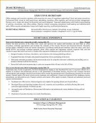 Security Clearance Resume Example by 12 Cover Letter For Executive Secretary Resume Basic Job