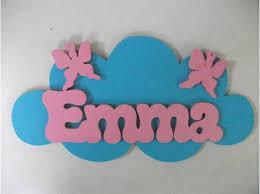 plaque de porte chambre bébé plaque porte prénom bois déco nuage chambre enfant 16ème