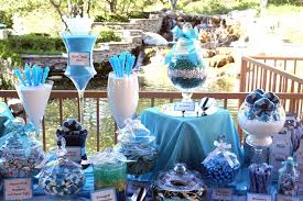 wedding candy table s blue themed wedding candy buffet powell s sweet shoppe