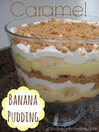 layered caramel banana pudding dessert picnic food pinterest