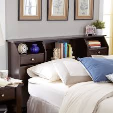 solutions on small headboards for small bedrooms bookcase headboards