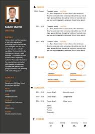 Free Resume Templates For Download Free Downloadable Cv Template Examples Career Advice How To