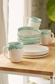 12 piece speckle reactive glaze dinnerware set dinnerware glaze