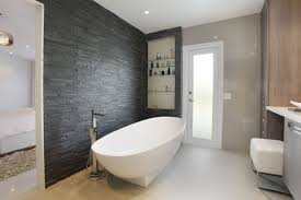 Tile Accent Wall Bathroom Bathroom Black And White Bathroom Interior Decoration 5 Of 14