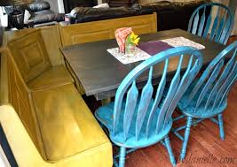 Country Kitchen Table And Chairs - colorful farmhouse kitchen table flip diy danielle