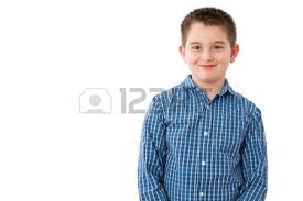 portrait of a 10 year boy with a mischievous sweet smile