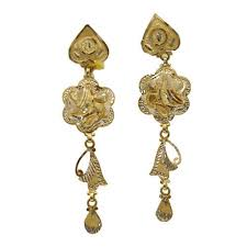 latkan earrings gorgeous gold earrings minal palace manufacturer in zaveri