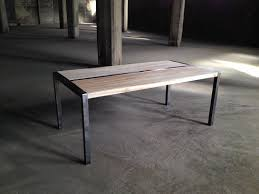 Coffee Table Frame Wood And Metal Coffee Table With Custom Steel Frame Shellback