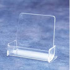 card holder acrylic desk top literature display with 1