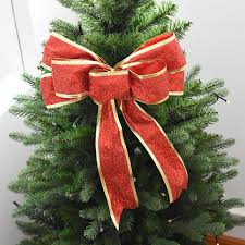 new tree bow decoration baubles bowknot merry