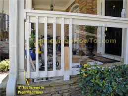 diy front porch railing interesting ideas for home ideas to build