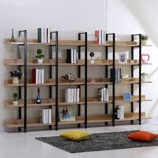 Creative Shelving American Creative Wood Wrought Iron Shelf Bookcase Library Shelves