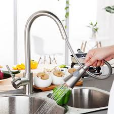 Satin Nickel Kitchen Faucet by Online Get Cheap Pullout Kitchen Faucet Aliexpress Com Alibaba