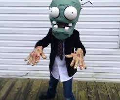 image result for plants vs zombies costume press start