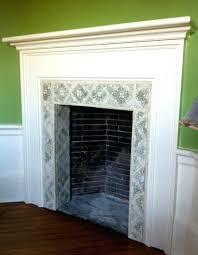 fireplace cool tiled fireplace surrounds design ideas tile