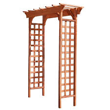 greenstone fairchild 84 x 61 in outside wood garden arbor mfs49pg