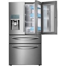 french doors interior home depot samsung 22 4 cu ft food showcase 4 door french door refrigerator