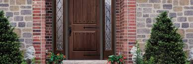 Fiberglass Exterior Doors With Sidelights Architect Series Traditional Wood Replacement Windows Doors