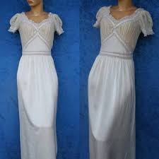 vintage fischer silk rayon lace chiffon wedding bridal hollywood