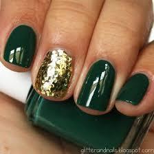 nail accessories season thanksgiving forest green nail