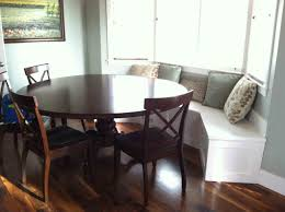 furniture best corner banquette seating with round table and wood