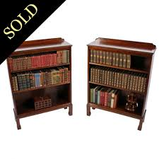 Mahogany Bookshelves by Pair Of Open Bookcases Antique Mahogany Open Bookshelves