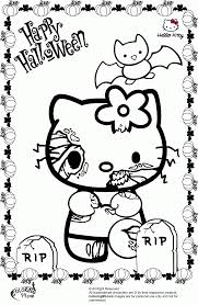 hello kitty zombie halloween coloring pages contegri com